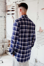 Load image into Gallery viewer, Check Blue 100% Cotton Alex Ingh  shirt that's made in Italy