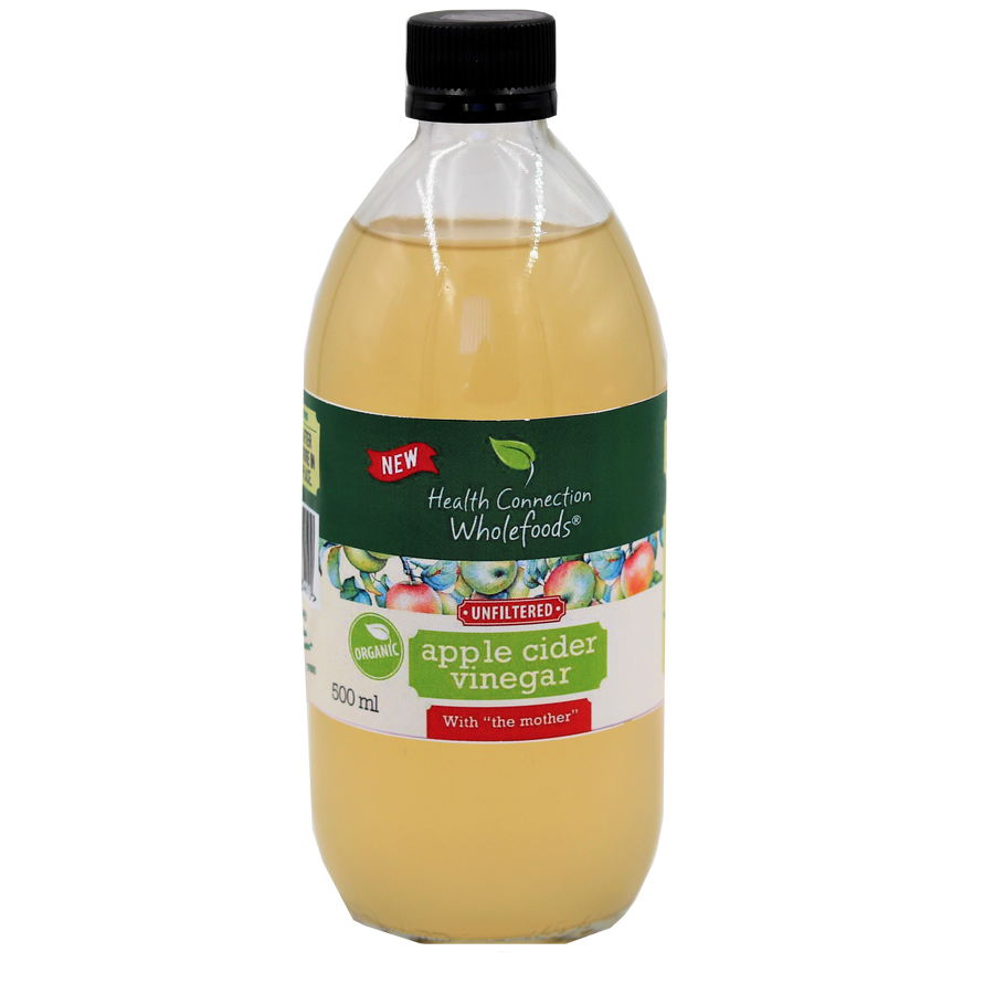 Apple Cider Vinegar, unfiltered, organic, 500ml ( Health Connection)