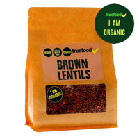 Truefood Organic Lentils Brown 400g