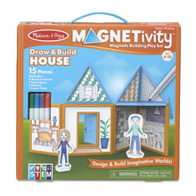 Load image into Gallery viewer, Melissa & Doug Magnetivity Building Play Set Draw & Build House
