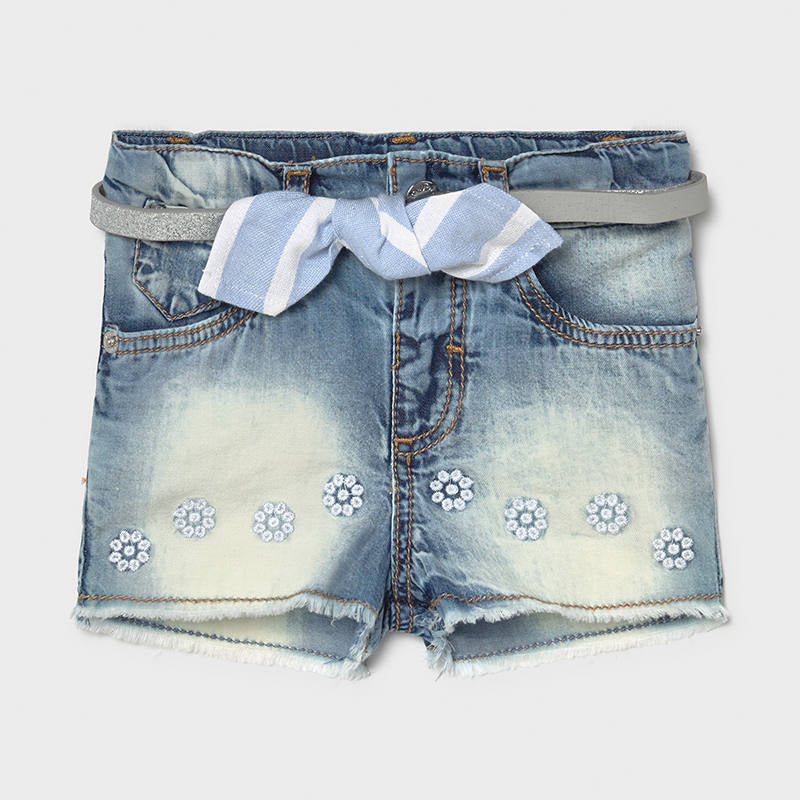 Mayoral Baby Girl Jean Shorts