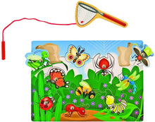 Load image into Gallery viewer, Melissa & Doug Magnetic Wooden Bug Catching Game