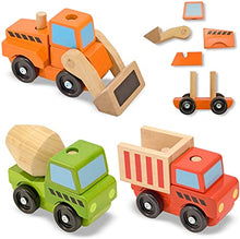 Load image into Gallery viewer, Melissa & Doug Stacking Construction Vehicles
