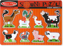 Load image into Gallery viewer, Melissa & Doug Farm Animals Sound Puzzle