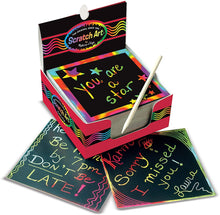 Load image into Gallery viewer, Melissa & Doug Rainbow Scratch Art Notes