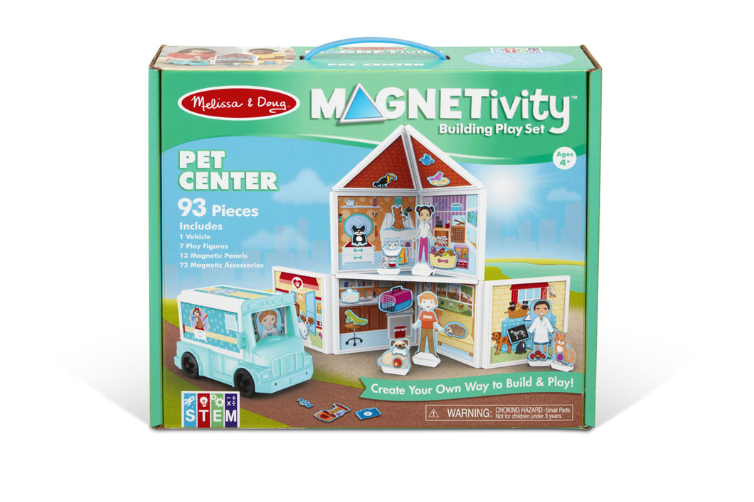 Melissa & Doug Magnetivity Building Play Set Pet Center