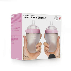 Comotomo Silicone Baby Bottle 2 Pack (8oz/250ml)