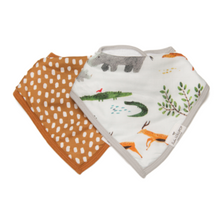 Load image into Gallery viewer, Loulou Lollipop Muslin Bandana Bib Set
