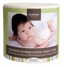 Kushies Flushable/Biodegradable Diaper Liners