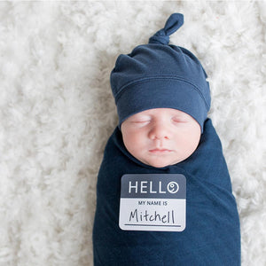 Lulujo Hello World Blanket and Knotted Hat