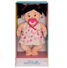 Load image into Gallery viewer, Baby Stella Soft Baby Doll- Pigtails