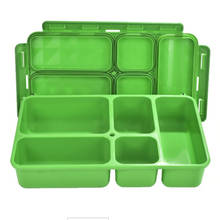 Load image into Gallery viewer, Go Green 5-Compartment Leak-proof Food Box-Large