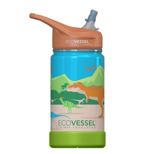 EcoVessel Frost - 12 oz Insulated Stainless Steel Water Bottle with Straw