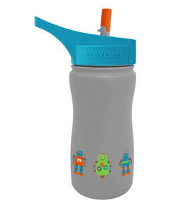 EcoVessel Scout - 13 oz Insulated Stainless Steel Water Bottle with Straw