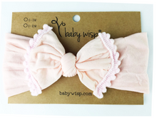 Load image into Gallery viewer, Baby Wisp Pom Pom Headwrap