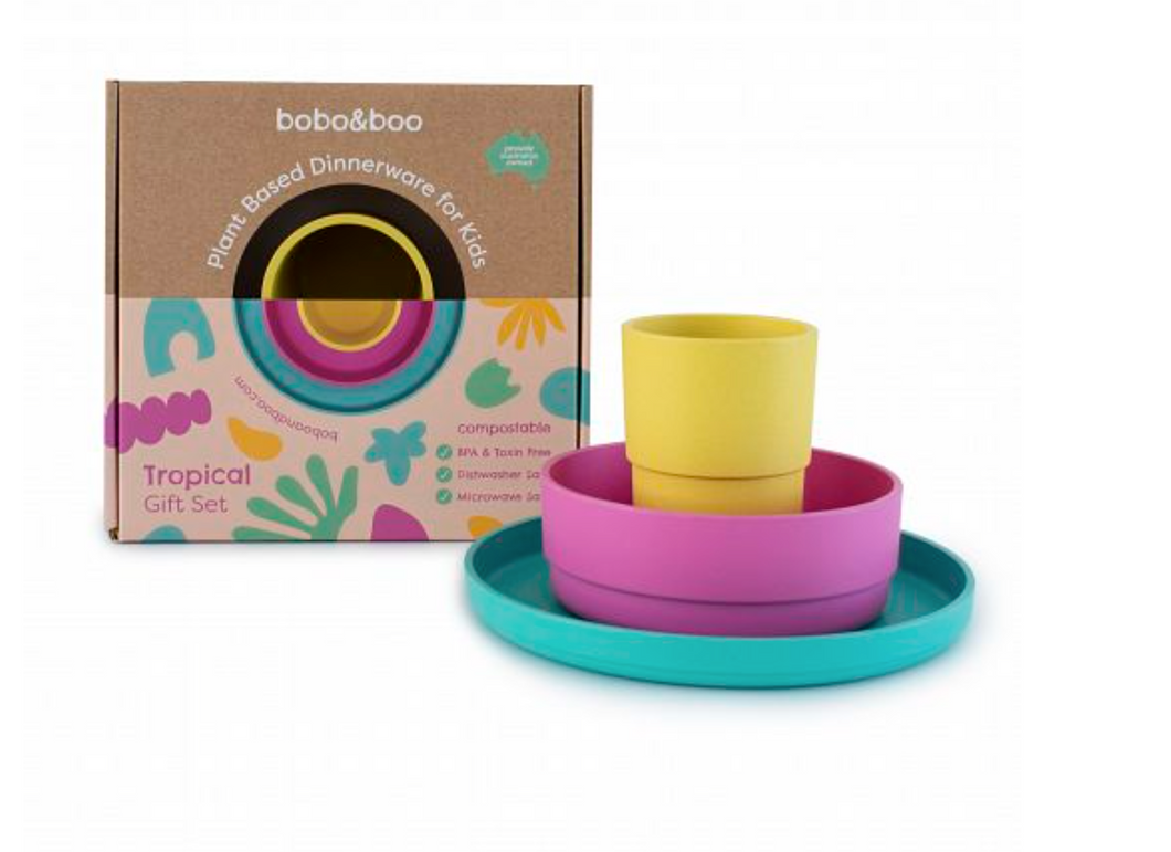 Bobo&boo Plant Based Tablewear Set - Tropical