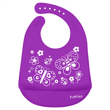 Silicatch Bib - Butterfly Kiss - Violet