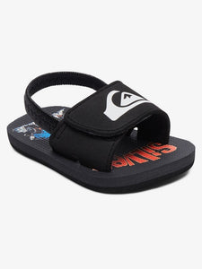 Quiksilver Boys Molokai Layback Slide-Black-Grey-Red