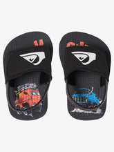 Load image into Gallery viewer, Quiksilver Boys Molokai Layback Slide-Black-Grey-Red