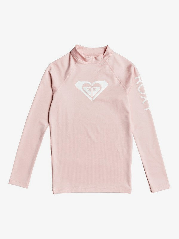 Roxy Whole Hearted Long Sleeve Rashguard- Pink