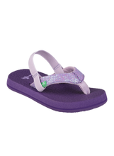 Load image into Gallery viewer, Sanuk Yoga Glitter Sandals- Purple