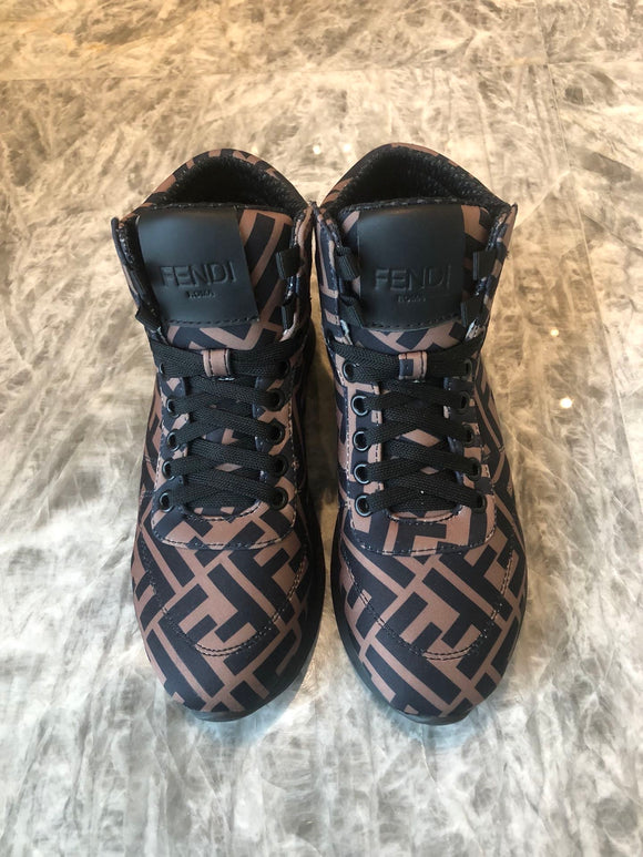 FF x nicki Minaj brown high top sneakers