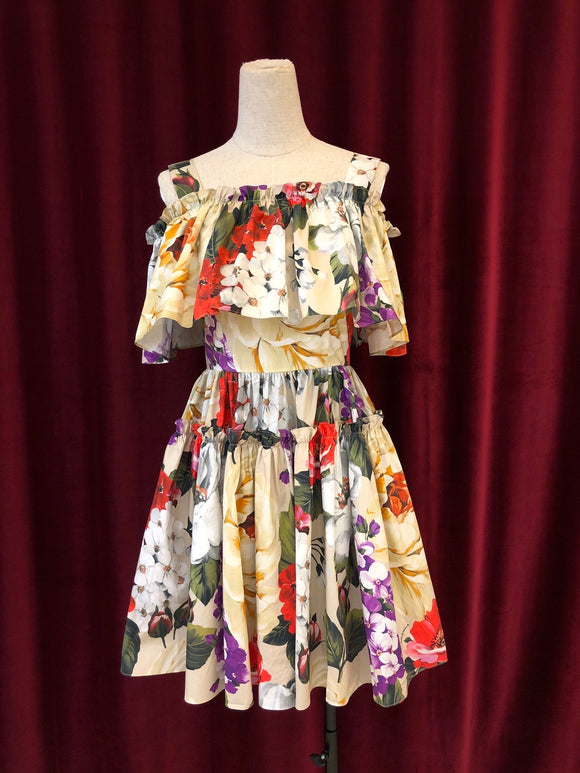 DG SS20 totally floral ruffle dress