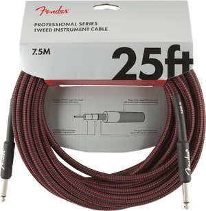 Fender Professional Series 'Red Tweed' Instrument Cables - acousticcentre