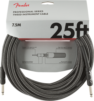 Fender Professional Series 'Gray Tweed' Instrument Cables - acousticcentre