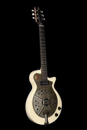 National Pioneer RP2 'Translucent Ivory' Resonator Acoustic Electric Guitar