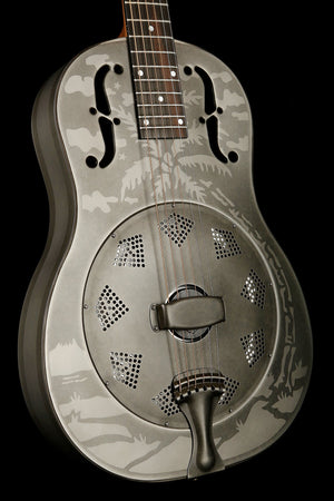 National Style O Weathered Steel Resonator Guitar