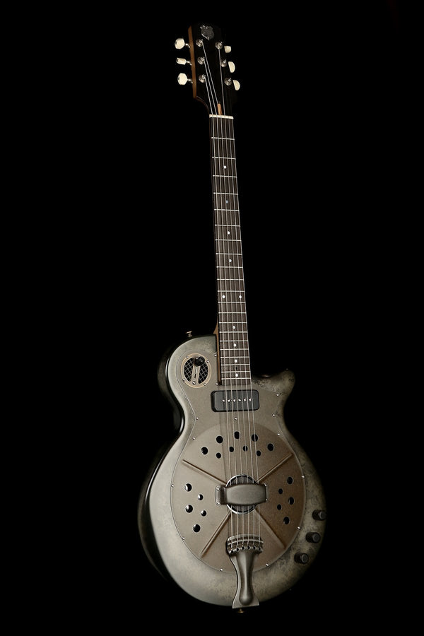 National Pioneer RP1 'Black Rust' Resonator Acoustic Electric Guitar