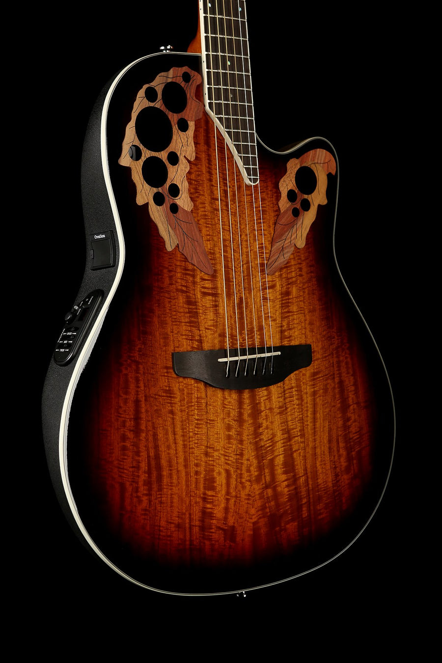 Ovation CE48P Celebrity Elite Exotic 'Koa Burst' Acoustic Electric Guitar