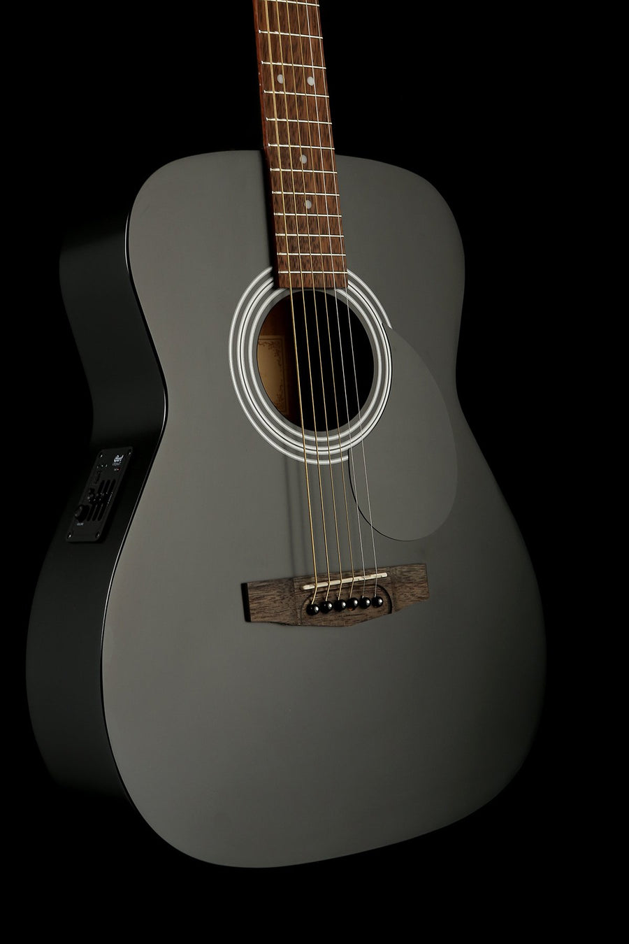 Cort AF510E Concert 'Satin Black' Acoustic Electric Guitar
