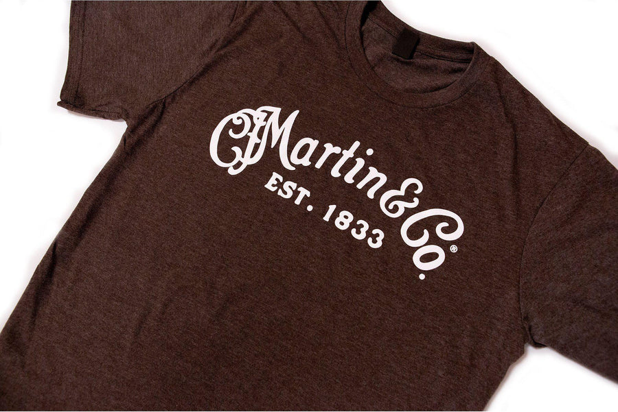 Martin 'CF Martin Logo' Heather Brown T-Shirt