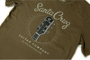 Santa Cruz Guitars Headstock Logo Organic T-Shirt