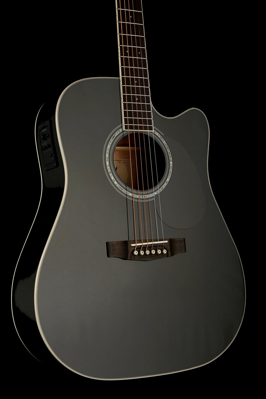 Cort MR710F 'Gloss Black' Acoustic Electric Guitar