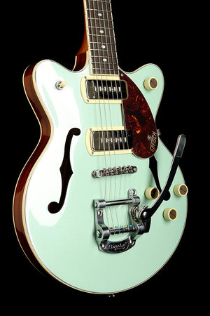 Gretsch G2655T-P90 Streamliner Center Block Jr. with Bigsby 'Two-Tone Mint Metallic / Vintage Mahogany Stain' Electric Guitar