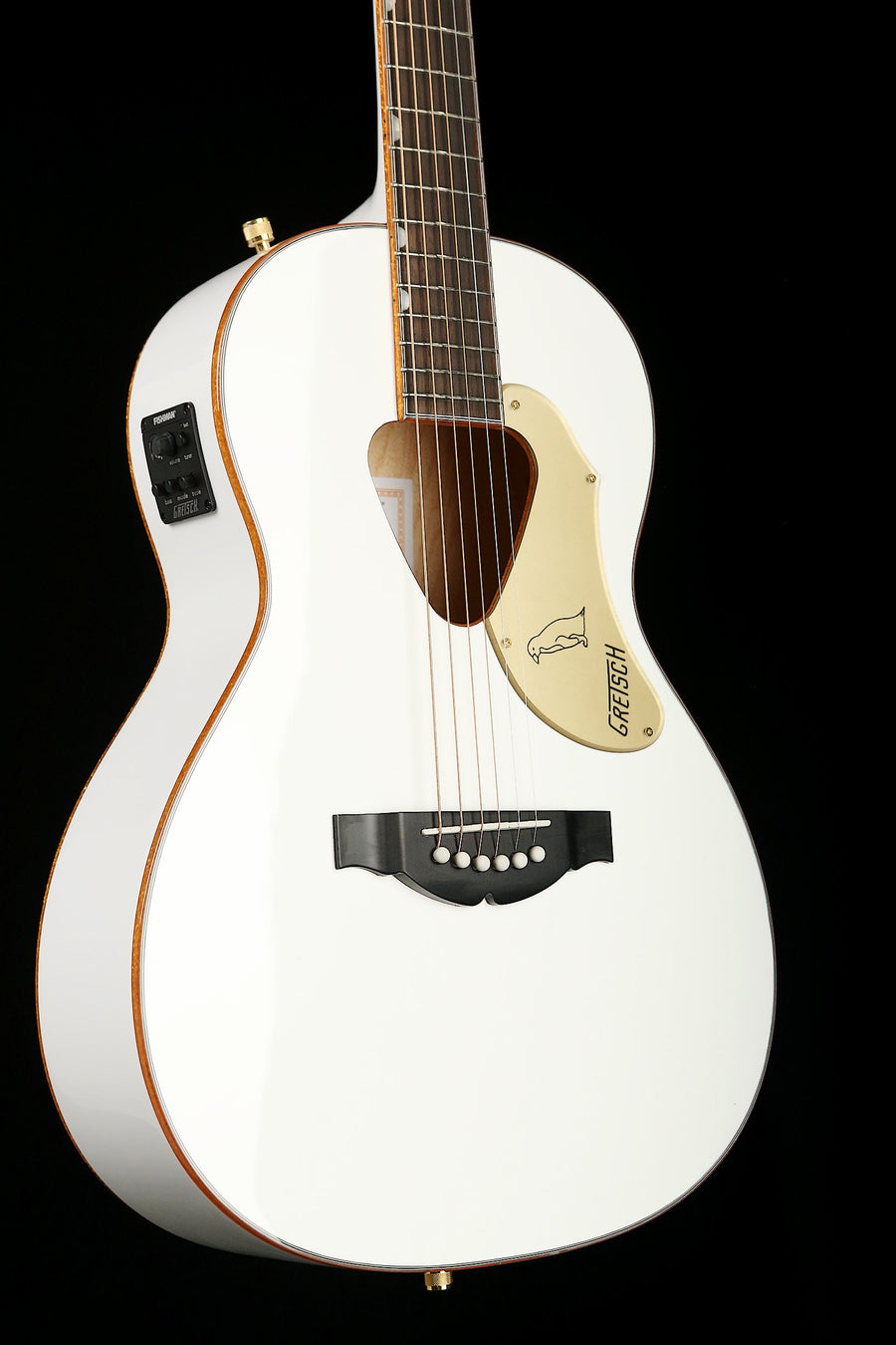 Gretsch G5021WPE White Penguin Parlour Acoustic Electric Guitar - acousticcentre