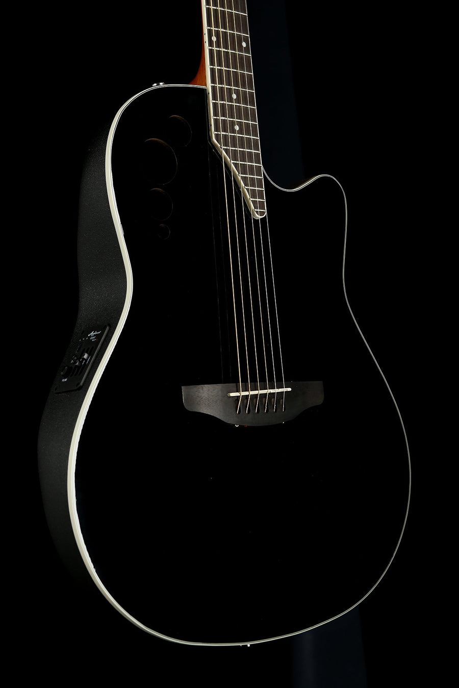 Ovation Applause Elite Black Acoustic Electric Guitar
