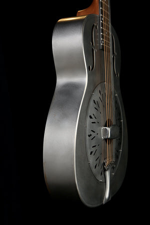 National 'Raw Series' 14 Fret Steel Resonator Guitar