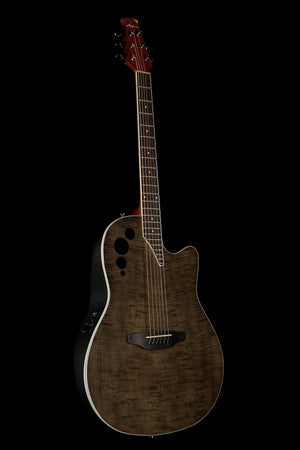 Ovation Applause Elite Trans Black Flame Acoustic Electric Guitar