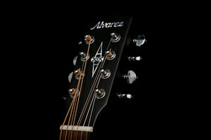 Alvarez Artist Baritone 8-String Black Acoustic Electric Guitar