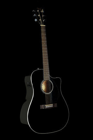 Fender CD-60SCE Black Acoustic Electric Guitar