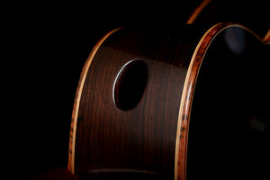 Allan Bull Concert Model Western Red Cedar / East Indian Rosewood Classical Guitar CLG219