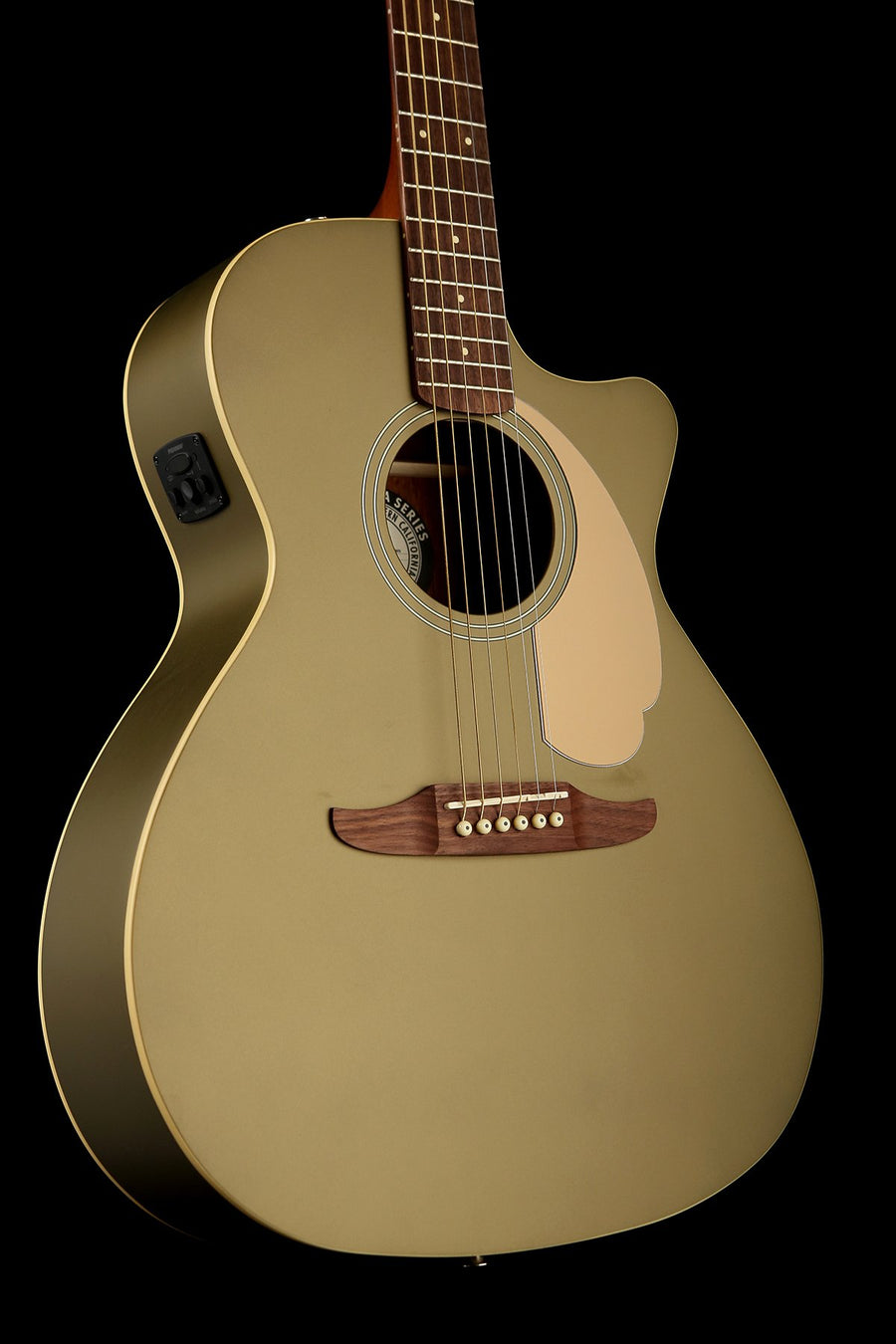 Fender Newporter Player 'Olive Satin' Acoustic Electric Guitar