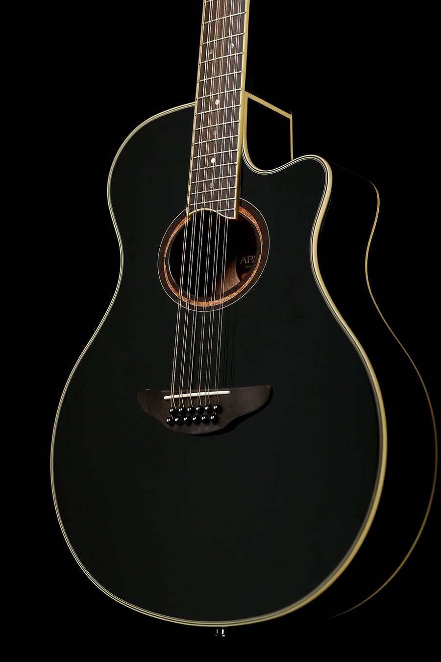Yamaha APX700 II Black 12 string Acoustic Electric Guitar