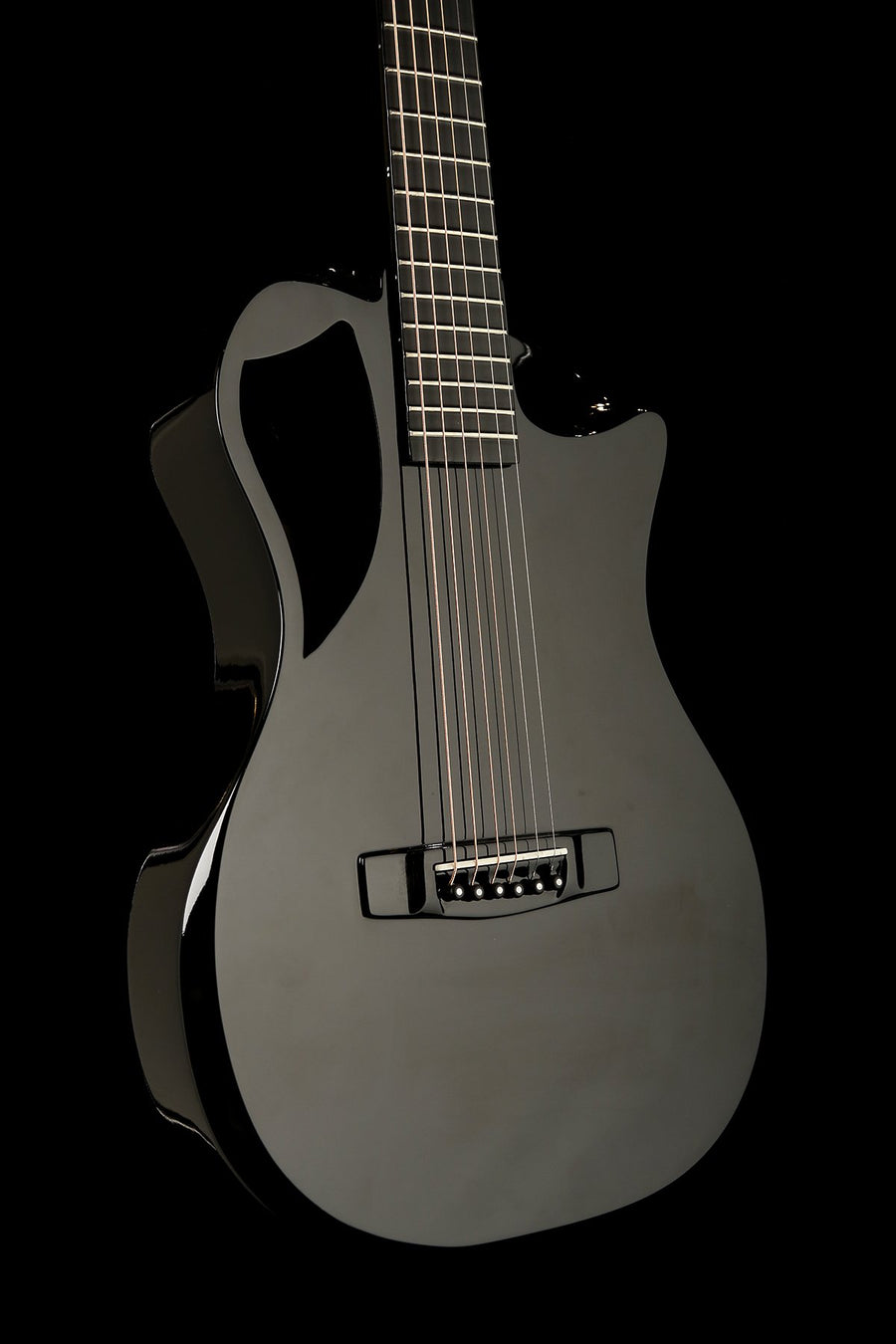 Journey Instruments OF660 Gloss Black Collapsible Acoustic Electric Guitar