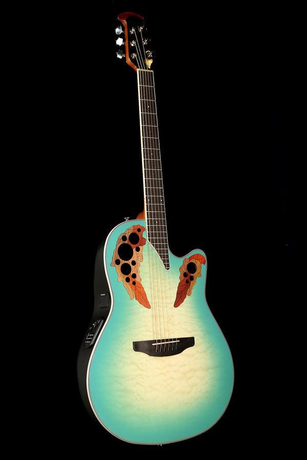 Ovation Celebrity Elite Exotic 'Quilted Maple Mint Burst' Acoustic Electric Guitar