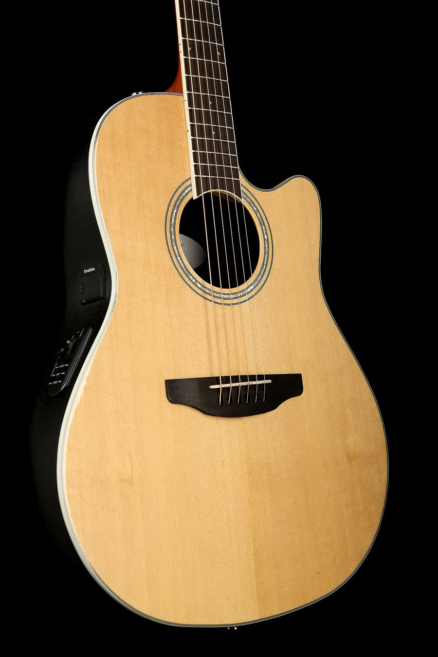 Ovation Celebrity Standard Natural Mid-Depth Acoustic Electric Guitar